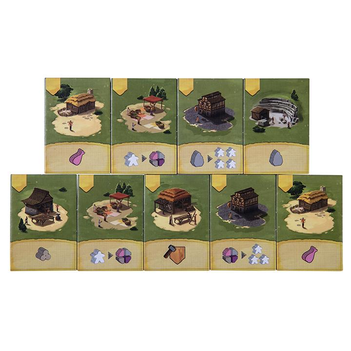 Настольная игра «Келюс 1303» (Caylus 1303) - жетоны построек