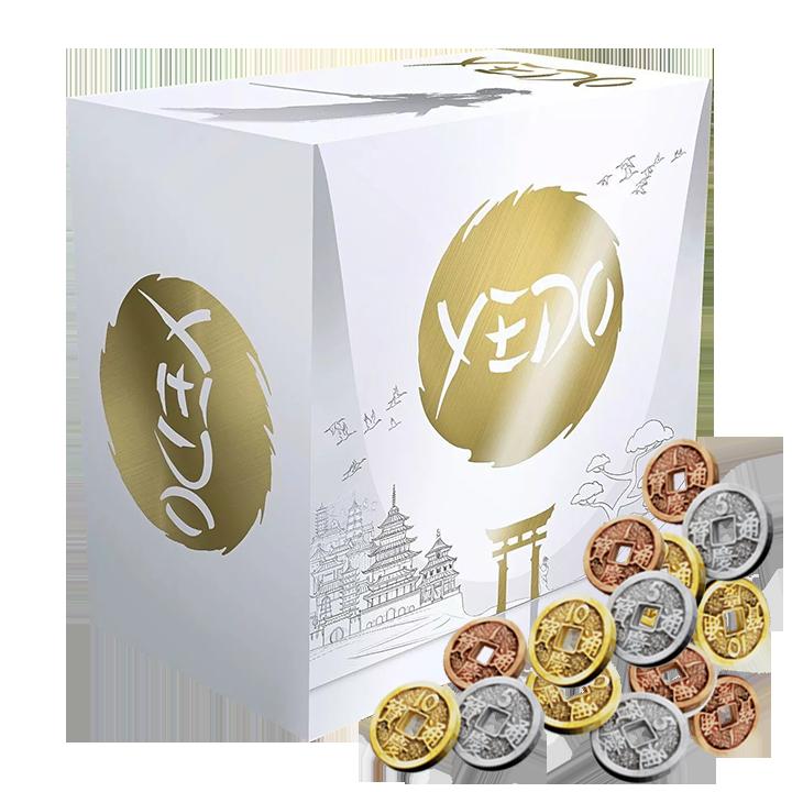 Комплект: настольная игра Yedo: Deluxe Master Set и набор металлических монет