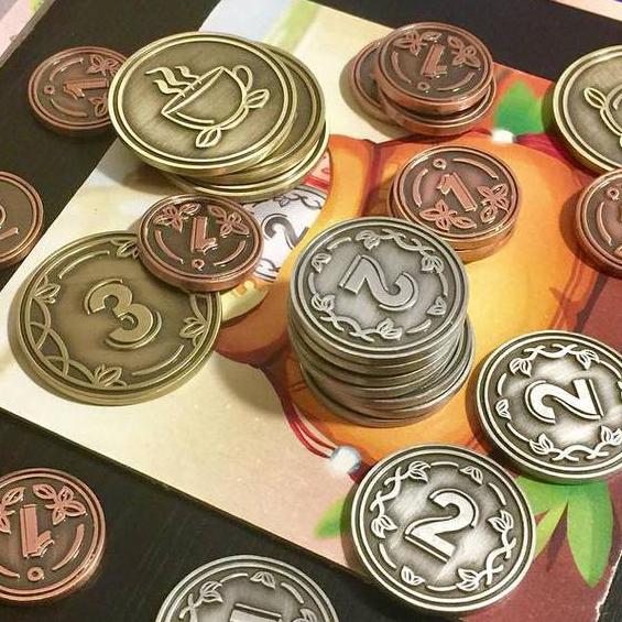Металлические монеты для игры Chai