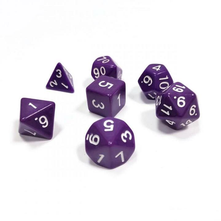 Набор из 7 кубиков для ролевых игр (фиолетовый)