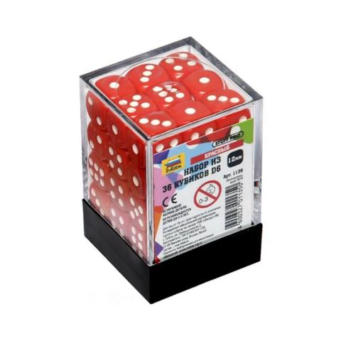 Набор из 36 кубиков D6 (Красный)