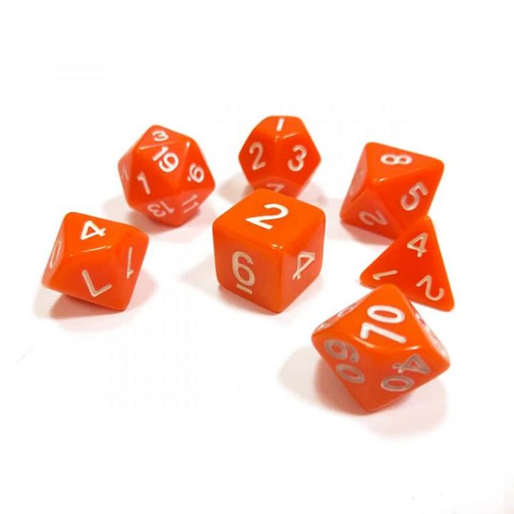 Набор из 7 кубиков для ролевых игр (оранжевый)