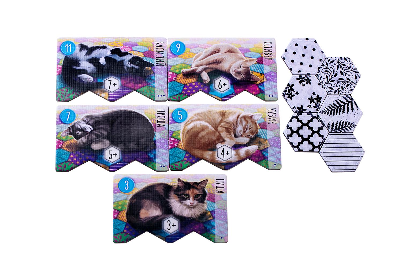 Настольная игра «Котики» (Calico). Планшеты котиков