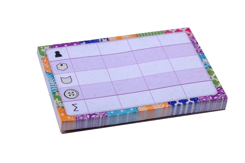 Настольная игра «Котики» (Calico). Блокнот для подсчёта очков