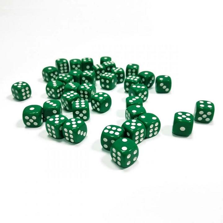 Набор из 36 кубиков D6 (зелёный)