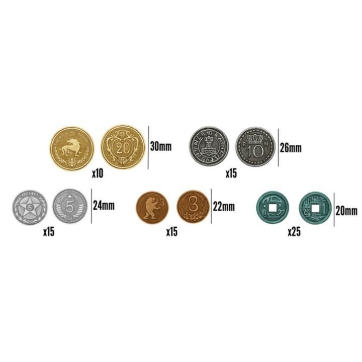 Комплект металлических монет к игре «Серп» (80 шт.). Фото