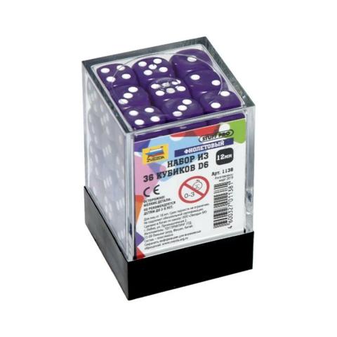 Набор из 36 кубиков D6 (фиолетовый)