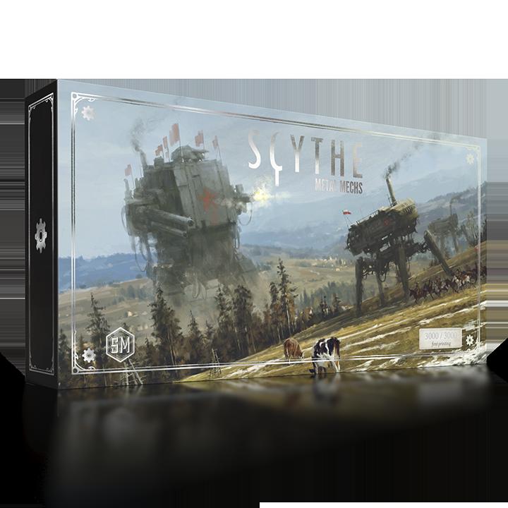 Металлические роботы для настольной игры «Серп». Фото коробки
