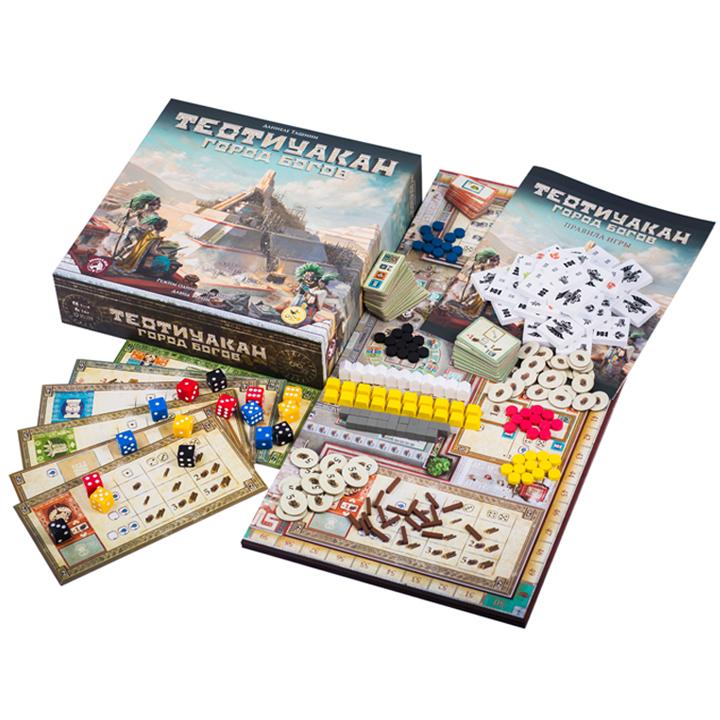 Теотиуакан. Город богов (Teotihuacan: City of Gods). Настольная игра Crowd Games. Фото компонентов