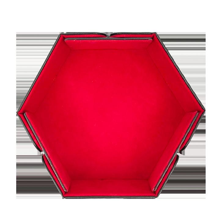 Дайс-трей шестиугольный на магнитах «Красный бархат»