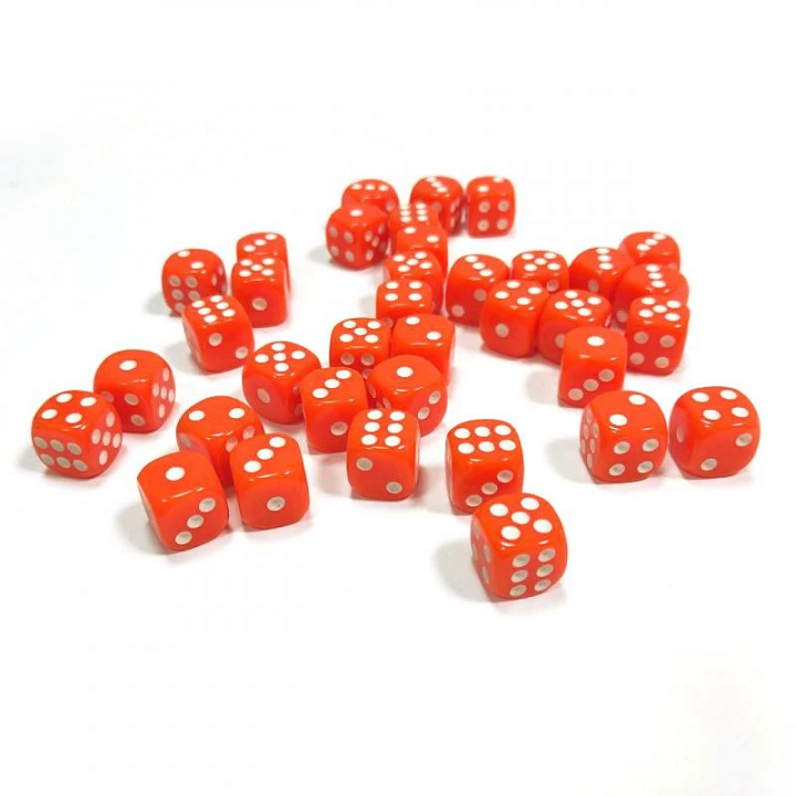 Набор из 36 кубиков D6 (оранжевый)