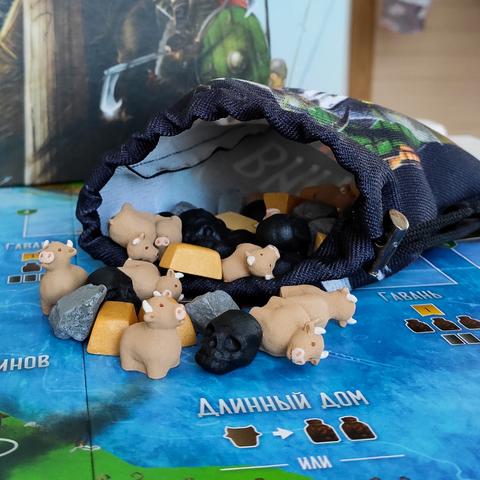 Фото реалистичных ресурсов для игры «Викинги». Фото компонентов 1