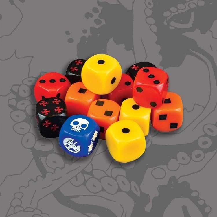 Кубики D6 для игры «Хеллбой»