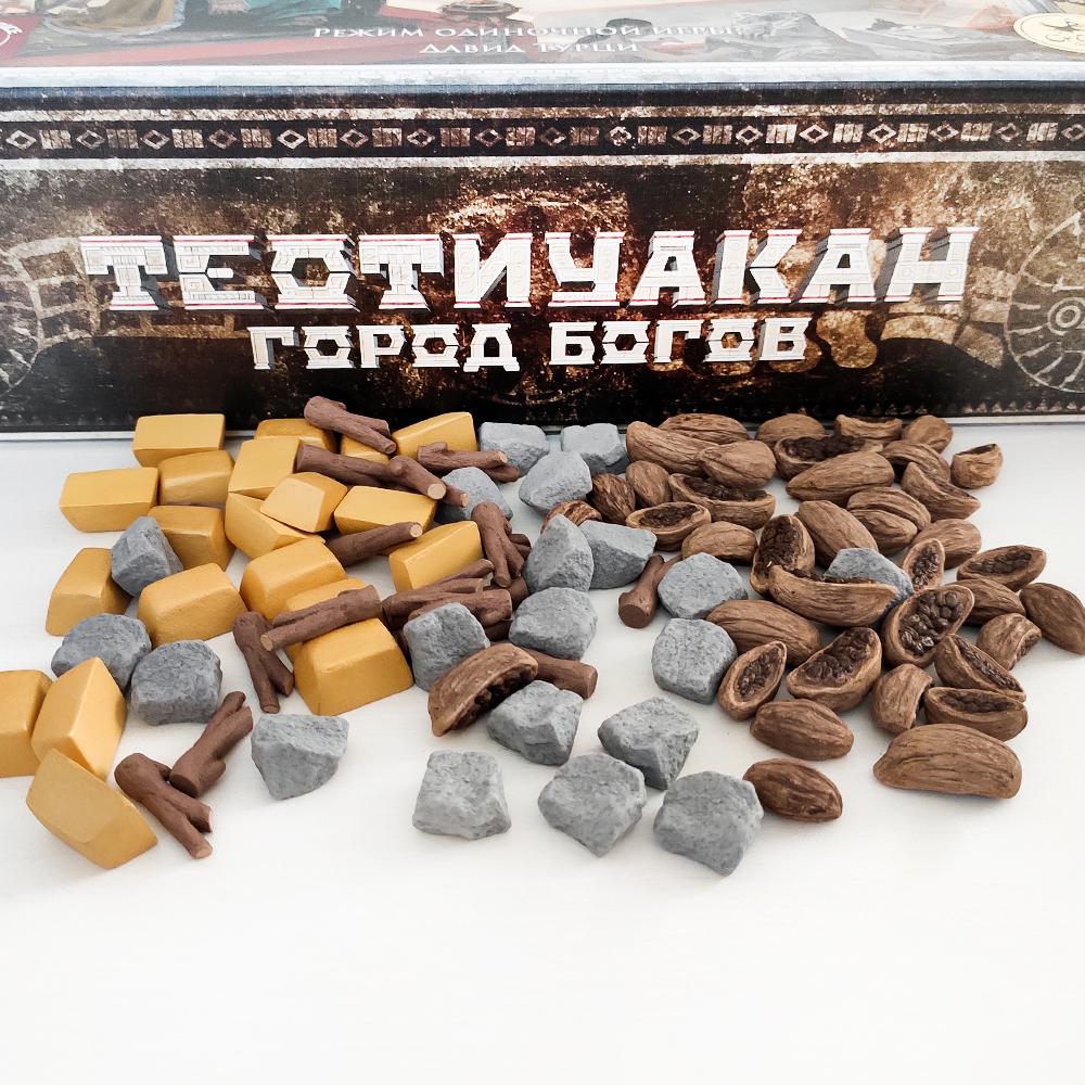 Реалистичные ресурсы для игры «Теотиуакан. Город богов». Фото компонентов 2