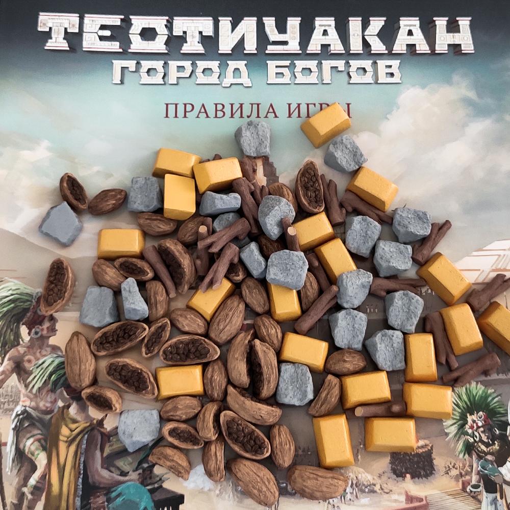 Реалистичные ресурсы для игры «Теотиуакан. Город богов». Фото компонентов 3
