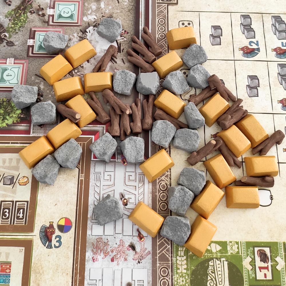 Реалистичные ресурсы для игры «Теотиуакан. Город богов». Фото компонентов 4