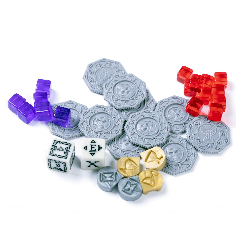 Счётчики, кубики и маркеры в игре