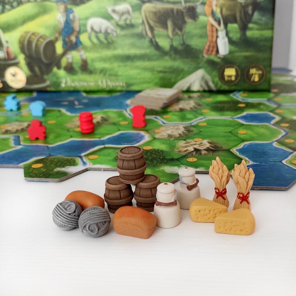 Реалистичные ресурсы для игры «Кланы Каледонии». Фото компонентов 2