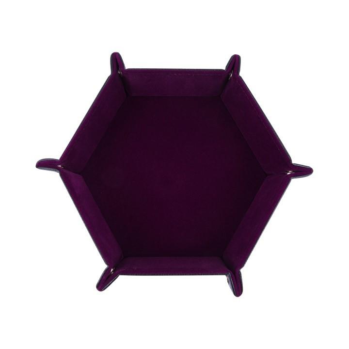 Дайс-трей шестиугольный «Бордовый бархат». Фото