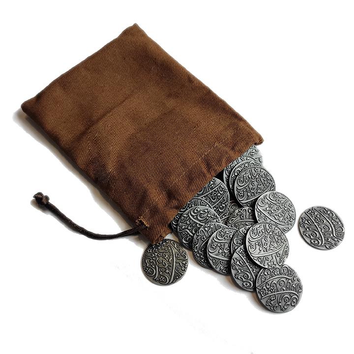 Металлические монеты с мешочком для игры «Pax Pamir. Большая игра» (40 шт.)